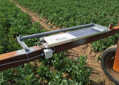 Raindancer Solarpanel auf Regnerwagen - Cordes Beregnung